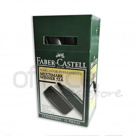 Marcatore Permanente Multimark Winner 52 Nero punta tonda - Faber-Castell 7754111652308