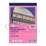 Ricevute fiscali - Fatture (ric. fiscali) Generiche 50 fogli duplice copia autoricalcante - Gruppo Buffetti DU1661FCN00