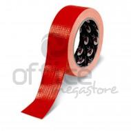Nastro Adesivo Telato plastificato Rosso 38mm x 25m LC Adesivi 1008872