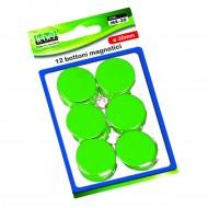 Bottoni Magnetici Verde Diametro 30mm x 12 pezzi MR-30-V