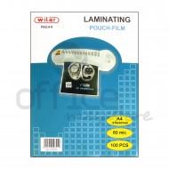 Pouch 216 X 303 mm. 80 micron 100 Laminating per fogli A4 plastificatrice a caldo Wiler P80A4
