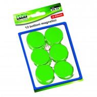 Bottoni Magnetici Verde Diametro 40mm x 12 pezzi MR-40-V