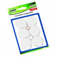 Bottoni Magnetici Bianco Diametro 40mm x 12 pezzi Lebez MR-40-B