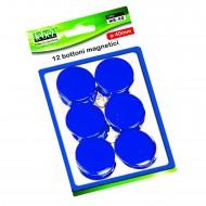 Bottoni Magnetici Blu Diametro 40mm x 12 pezzi Lebez MR-40-BL