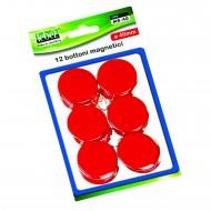 Bottoni Magnetici Rosso Diametro 40mm x 12 pezzi Lebez MR-40-R