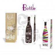 Sacchetti da regalo in carta per bottiglie di vino confezione da 12 buste per colore Wiler U011B