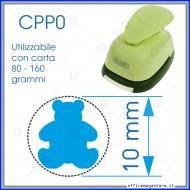 Fustella a leva perforatore craft punch per carta fustelle a mano per fustellare sagome di cartoncino forma Orso 10 mm. CPP001