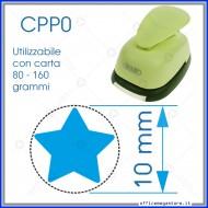 Fustella a leva perforatore craft punch per carta fustelle a mano per fustellare sagome di cartoncino forma Stella 10 mm. CPP002