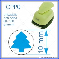 Fustella a leva perforatore craft punch per carta fustelle a mano per fustellare sagome di cartoncino Albero di Natale CPP006