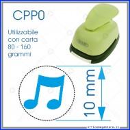 Fustella a leva perforatore craft punch per carta fustelle a mano per fustellare sagome di cartoncino nota musicale 10 mm CPP009