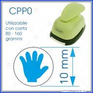 Fustella a leva perforatore craft punch per carta fustelle a mano per fustellare sagome di cartoncino forma Mano 10 mm. CPP012