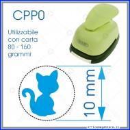 Fustella a leva perforatore craft punch per carta fustelle a mano per fustellare sagome di cartoncino gatto seduto 10 mm CPP014