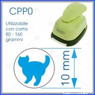 Fustella a leva perforatore craft punch per carta fustelle a mano per fustellare sagome di cartoncino Gatto in piedi 10mm CPP015