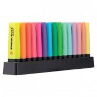 Evidenziatori Set da scrivania Stabilo Boss confezione 9 fluo e 6 pastello 7015-01
