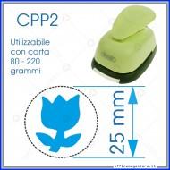 Fustella a leva per carta perforatore craft punch fustelle a mano per fustellare sagome di cartoncino Tulipano 25 mm CPP227