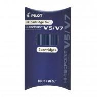 Set Refill Hi Tecpoint per V5 e V7 Ricaricabile inchiostro Liquido Blu confezione 3 cartucce Pilot 040336 BXS-IS-L-S3