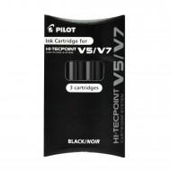Set Refill Hi Tecpoint per V5 e V7 Ricaricabile inchiostro Liquido Nero confezione 3 cartucce Pilot 040335 BXS-IC-B-S3