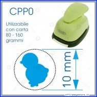 Fustella a leva perforatore craft punch per carta fustelle a mano per fustellare sagome di cartoncino forma Pulcino 10 mm CPP016