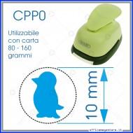 Fustella a leva perforatore craft punch per carta fustelle a mano per fustellare sagome di cartoncino forma Pinguino 10mm CPP017