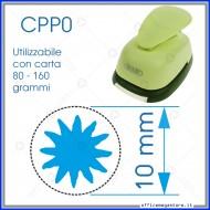 Fustella a leva perforatore craft punch per carta fustelle a mano per fustellare sagome di cartoncino forma Sole 10mm CPP019