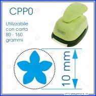 Fustella a leva perforatore craft punch per carta fustelle a mano per fustellare sagome di cartoncino forma Petali 10 mm CPP021