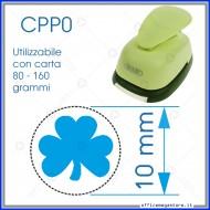 Fustella a leva perforatore craft punch per carta fustelle mano per fustellare sagome di cartoncino forma Trifoglio 10mm CPP022