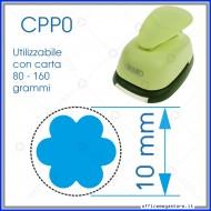 Fustella a leva perforatore craft punch per carta fustelle a mano per fustellare sagome di cartoncino forma Fiore 10mm CPP024
