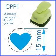 Fustella a leva perforatore craft punch per carta fustelle a mano per fustellare  sagome di cartoncino forma Cuore 15 mm. CPP104