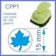 Fustella a leva perforatore craft punch per carta fustelle mano per fustellare  sagome di cartoncino forma Foglia 15 mm. CPP105