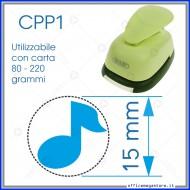 Fustella a leva perforatore craft punch per carta fustelle a mano per fustellare cartoncino Note musicale 15 mm. CPP109