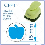Fustella a leva perforatore craft punch per carta fustelle a mano per fustellare  sagome di cartoncino forma Mela 15 mm. CPP111
