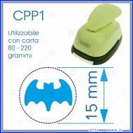 Fustella a leva perforatore craft punch per carta fustelle a mano per fustellare  sagome di cartoncino Pipistrello 15 mm. CPP112