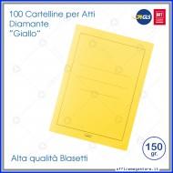 Cartelline per atti 100 cartelle senza lembi Giallo per ufficio Blasetti Diamante 590