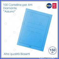 Cartelline per atti 100 cartelle senza lembi Azzurro per ufficio Blasetti Diamante 588