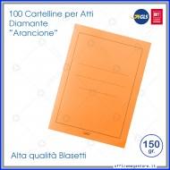 Cartelline per atti 100 cartelle senza lembi Arancione per ufficio Blasetti Diamante 587