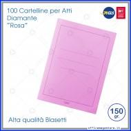 Cartelline per atti 100 cartelle senza lembi Rosa per ufficio Blasetti Diamante 592
