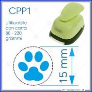 Fustella a leva perforatore craft punch per carta fustelle a mano per fustellare  sagome di cartoncino forma Orma 15 mm. CPP115