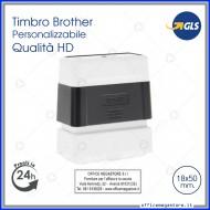 Timbro fotografico digitale aziendale personalizzato timbri  online con testo e logo Brother 1850