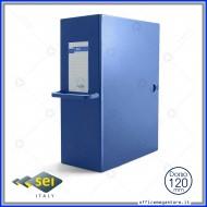 Scatola archivio Blu Dorso 12cm Big 120 25x35cm con maniglia Sei Rota 68001207