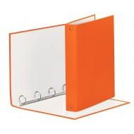 Raccoglitore Meeting 4 Anelli Tondi mm.30 in PP Rivestito Colore Arancione - 579220