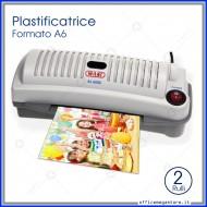 Plastificatrice a Caldo Formato A6 2 Rulli per Carta e Foto Wiler AL6202
