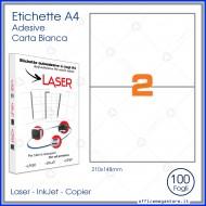 Etichette Permanenti 210x148mm 2 Adesivi 100 Fogli A4 Premium - Idlabel A4210148