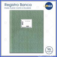 Registro Banca Dare Avere Conto Scalare cm.31x24.5 Gruppo Buffetti DU133210000
