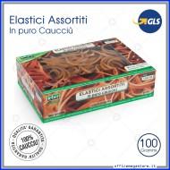 Elastici assortiti in gomma di puro caucciù molle misure miste para 100 grammi Lebez 75018