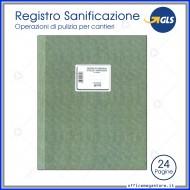 Registro operazioni di pulizia e sanificazione per cantieri 24 pagine 31x24,5cm - Gruppo Buffetti DU3219C0100