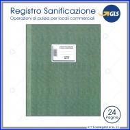 Registro operazioni di pulizia e sanificazione Locali Commerciali 24 pagine 31x24,5cm Gruppo Buffetti DU321900100