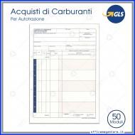 Acquisti Carburante per Autotrazione 50 Fogli Mobile Avorio due fori da 11 Prelevamenti Modulistica Gruppo Buffetti DU153622N00