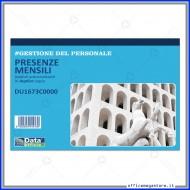 Blocco Presenze Mensili 50 Fogli Duplice Copia Gruppo Buffetti DU1673C0000
