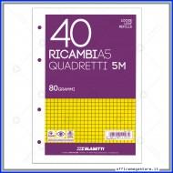 "Ricambi A5 Rigatura ""5M"" 40 fogli da 80g - Blasetti 1197"