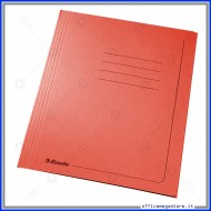 Cartelline 3 lembi 25 cartelle manilla Rosso 295 gr con alette per ufficio Esselte 55133